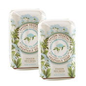 PANIER DES SENS Relaxing Sea Fennel Vegetable Soap - 2 Bars, 160ml Each