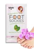 Spa Life Invigorating Foot Sockies Treatment - Spearmint + Tea Oil for Baby Soft Feet