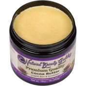 NaturalBeautyGoddess - The Best Cocoa Butter - 100 Percent Pure Unrefined Creamy Texture and Raw Chocolate Scent - For Skin, Face and Hair Care - Lotion, Lip balm, Oil, Stick, Soap and Stretch marks