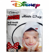 1 Hair Wrap Disney Minnie Mouse New Kids Girls Bath Towel Turban Swimming
