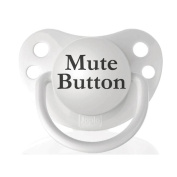 Personalised Pacifiers Mute Button Pacifier
