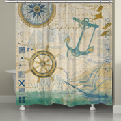 Laural Home Nautical Journey Shower Curtain