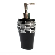 Classic Black and Silver Tile Patchwork Bath Accessory Collection - 7 Options Available