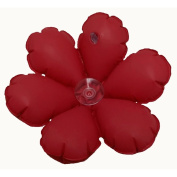 Inflatable Flower Terry Bath Cushion – Red