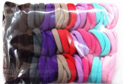 100pcs High Elastic Hair rope Ponytail Holders Scrunchie Mixed Colours hair styling basic models