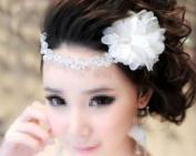 Rhinestone Crown Flower Bridal Wedding Headband Forehead Jewellery Head Chain Lady