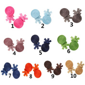 Tnian Girls' Grosgrain Ribbon Lollipop Candy Hairpins Boutique Alligator Clips 5.1cm Barrettes Hair Clips Pack of 20