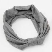 Venusvi Women Turban Twist Headband Head Wrap Twisted Knotted Knot Soft Hair Band{grey}