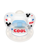 NUK Disney Baby Mickey Mouse Puller Pacifier in Assorted Colours and Styles, 0-6 Months