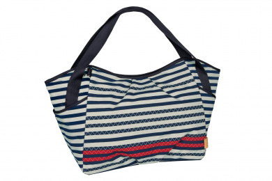 Lassig Casual Twin Nappy Bag, Striped Zigzag Navy