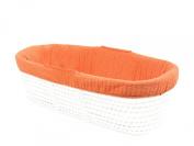 Tadpoles Line Stitched Moses Basket Bedding Only Set, Orange