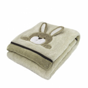Super-Soft Plush Baby Blanket- Crinkle Ear Bunny