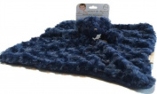 Blankets and Beyond Navy Rosette Bear Nunu Baby Security Blanket