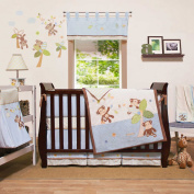 Go Bananas 4 Piece Organic Baby Crib Bedding Set by Little Haven