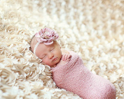Newborn Baby Photography Photo Props 3D Rose Flower Backdrop Beanbag Blanket Rug