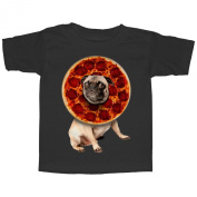 Lost Gods Pepperoni Pizza Pug Toddler Graphic T Shirt - Lost Gods