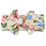 Fashion Infant Kids Elastic Flowers Big Bowknot Headband by FEITONG