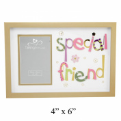 Talking Pictures Special Friend Photo Frame With 3D Multicolouletters 4 X 6