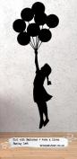 Banksy Balloon Girl Wall Sticker 40x110cm, Facing Left