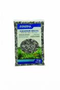 Marina Decorative Aquarium Gravel Mix, 2 Kg, Grey/ Black
