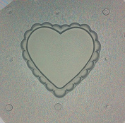 Flexible Resin or Chocolate Mould Ruffled Lace Heart 3.8cm x 0.6cm Deep