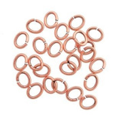 SNAPEEZ II ULTRAPLATE Ellipse -The Oval Bella Flamed Copper Ring Hard Open Jump 10x8mm Heavy Gauge