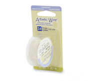 Artistic Wire 24 Gauge Silver Plated Jewellery Making Wire, 10 yd, White