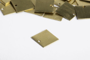 RMP Stamping Blanks, 3.8cm Square with 1 Hole, .80cm / 20 Gauge Brass - 20 Pack