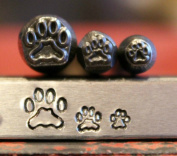 Supply Guy Dog Paw 3 Stamp Metal Punch Design Stamp Set