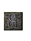 "Emco Metal Stamp ""B"" for Sealing Wax Mediaeval Floral Paisley Design 2.2cm x 2.2cm"
