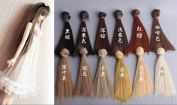 CYD BRAND Set Of 12 Colour 15*100cm BJD/SD Doll DIY Straight Hair - For Arts and Crafts, Doll Making, and More