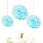 Since . 12Pcs of 20cm 25cm 36cm 3 Colours Mixed Light blue Tissue Paper Flowers, Tissue Paper Pom Poms, Wedding Decor, Party Decor, Pom Pom Flowers, Tissue Paper, Tissue Paper Flowers Kit, Pom Poms Craft, Wedding Pom Poms, Pom Poms Decoration