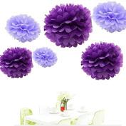 Since . 12Pcs of 20cm 25cm 36cm 3 Colours Mixed Purple and Lavender Tissue Paper Flowers, Tissue Paper Pom Poms, Wedding Decor, Party Decor, Pom Pom Flowers, Tissue Paper, Tissue Paper Flowers Kit, Pom Poms Craft, Wedding Pom Poms, Pom Poms Decoration