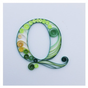 WeiVan Paper Quilling Craft Initial Blank Card Birthday Gift Card,Q