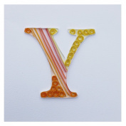 WeiVan Initial Letter Quilling Card Blank Birthday Card,Y