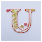WeiVan Quilling Paper Kit Initial Birthday Card Quilling Arts,U