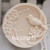 Creativemoldstore 1pcs Plum Birds (zx119) Craft Art Silicone Soap Mould Craft Moulds DIY Handmade Soap Mould
