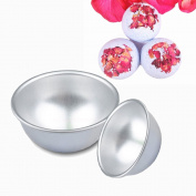 Tyoungg Stainless Steel Bath Bomb Ball Moulds Round Two Pieces For Making DIY Homemade Bath Salt Bomb