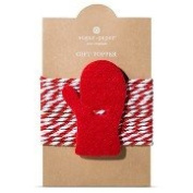 Set of (2) Sugar Paper Mitten Felt Tie On Gift Toppers
