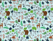 Roger La Borde Fox Hare Bears Reversible Rolled Gift Wrapping Paper 2 Sheets 48cm x 70cm