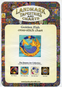 Landmark Tapestries and Charts Eastern Art Collection ~ Golden Fish Cross-Stitch Chart