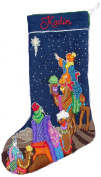 'Three Wise Men' Crewel Christmas Stocking