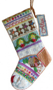'Gingerbear' Crewel Christmas Stocking