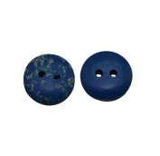 Yongshida 13mm Diameter Blue Round Shape 2 Holes Scrapbooking Sewing Toggle Wood Buttons Pack of 50