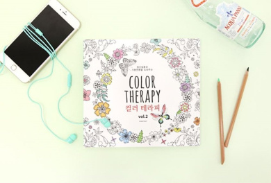 'Colour Therapy' Colouring Books for Adult Relaxation Meditation DIY Stationery Note Pads with 96 Designs - Stationery Cards for Greeting Letters Limited Edition (Mint)
