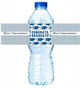 12pack Graduation Party Table Decoration WaterBottle Labels - Blue