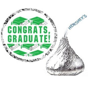 216 Graduation Party Favour Hershesy Kisses Labels - Black