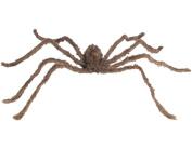 Loftus Giant Furry Spider Halloween 190cm Prop Brown Black