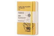 Moleskine 2017 Peanuts Limited Edition Daily Planner, 12m, Pocket, Yellow, Hard Cover
