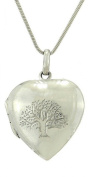 925 Sterling Silver Heart Locket Tree of Life Love Pendant Chain Necklace